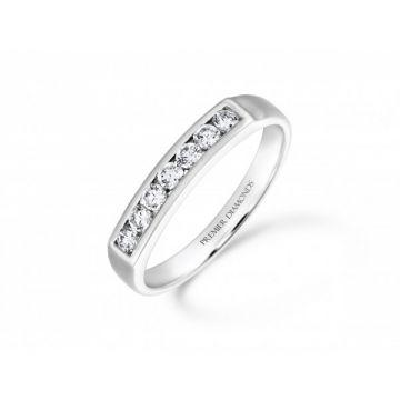 Stunning modern 7 stone round brilliant cut diamond channel set eternity ring  0.28 carat