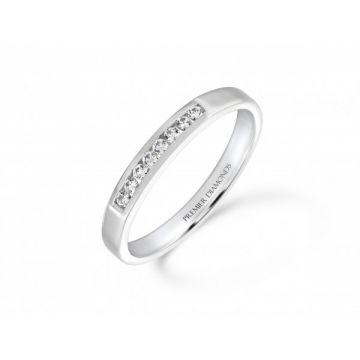 Stunning modern round brilliant cut diamond channel set eternity ring 0.09 carat