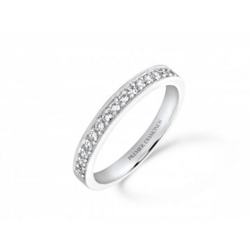 Stunning grain set round brilliant cut diamond half eternity ring 0.33 carat
