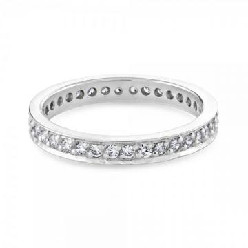 Stunning grain set round brilliant cut diamond full eternity ring 0.72 carat