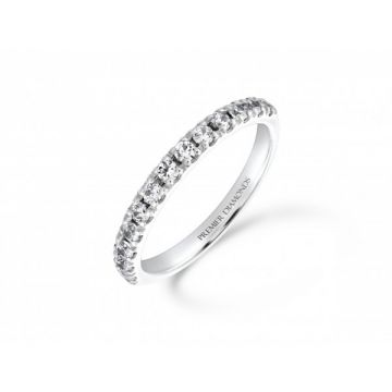 Classic four claw round brilliant cut diamond eternity ring 0.46 carat