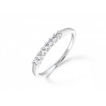 Sophisticated classic 5 stone claw set round brilliant cut diamond eternity ring 0.30 carat