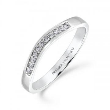 Perfectly shaped grain set round brilliant cut diamond wishbone ring 0.10 carat