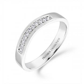 Beautiful round brilliant cut diamond wishbone ring 0.10 carat