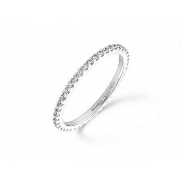 Slim claw set round brilliant cut diamond full eternity ring 0.43 carat