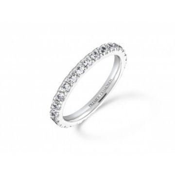 Classic claw set round brilliant cut diamond full set eternity ring 1.00 carat