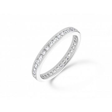 Classic channel set round brilliant cut diamond full eternity ring 0.75 carat