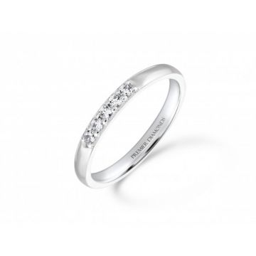 Elegant 5 stone round brilliant cut diamond eternity ring 0.13 carat
