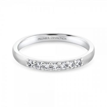 Elegant 7 stone round brilliant cut diamond eternity ring 0.18 carat