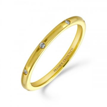 1.80mm heavy classic wedding band set evenly with 8 round brilliant cut diamonds 0.08 carat