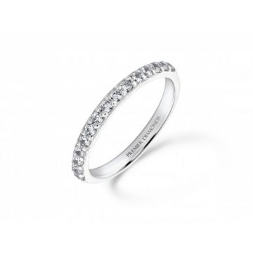 Elegant 15 stone round brilliant cut diamond half eternity ring 0.38 carat